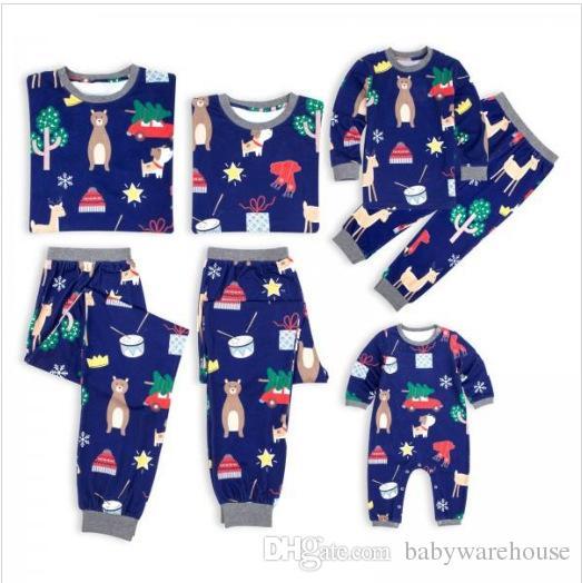 7691554836 Compre Familia Navidad Pijamas A Juego Mamá Papá Bebé Niños Ropa De Dormir  Ropa A Juego Familiar Traje De Dibujos Animados Impreso Ropa De Dormir  Navidad ...