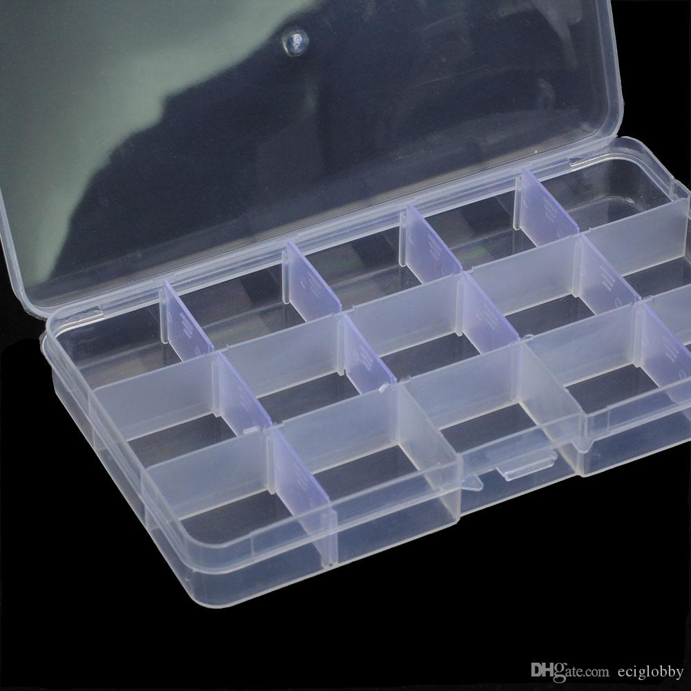Coil Father 10 Box 15 Slots Plastic Square Shaped Storage Box Case