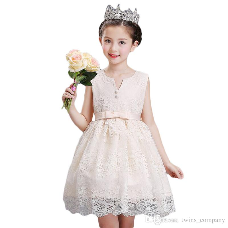 Girl Flower tutu Princess dress Kids Infant Wedding Dress Girls Toddler Elegant Vestido Infantil Party Dress 3-10Y