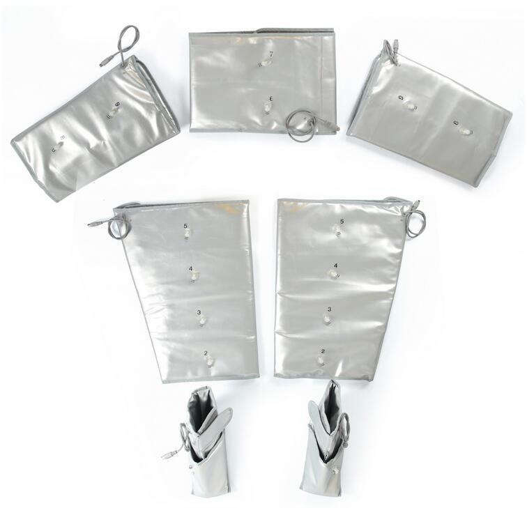 3 en 1 Infrarrojo lejano EMS Estimulación muscular eléctrica Presión de aire Masaje Presoterapia Equipo de drenaje linfático
