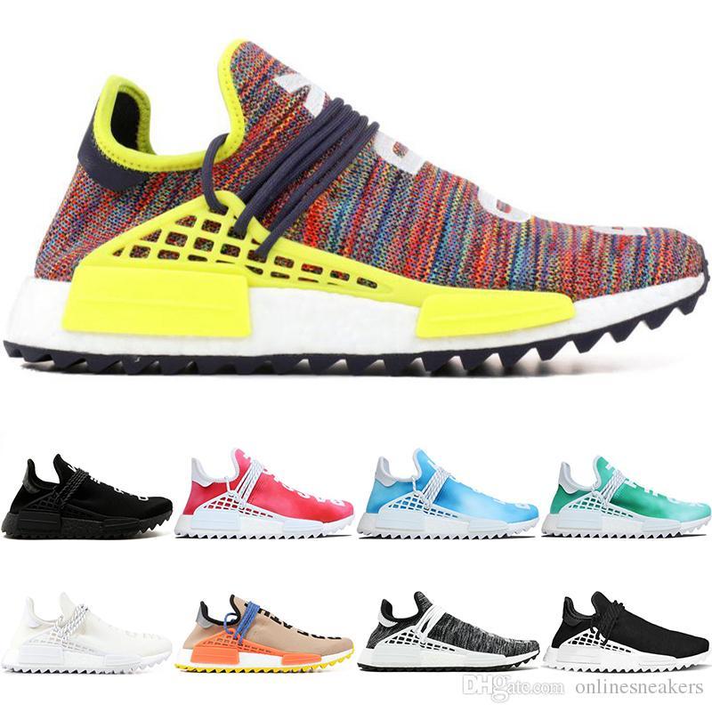 Human Race Trail Running Schuhe Männer Frauen Pharrell Williams HU Runner Frieden Leidenschaft Younth China Limited Herren Sport Sneaker Großhandel