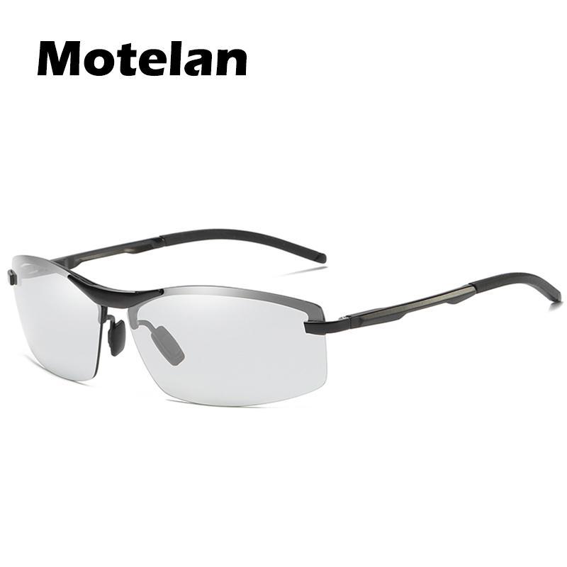 7ca5e255d3d08 Compre 2018 Dos Homens Novos Óculos De Sol Polarizados Fotocromáticos Anti  UV Sem Aro Condução Eyewear Para Homens Mulheres Drivers UV400 Óculos De Sol  A557 ...