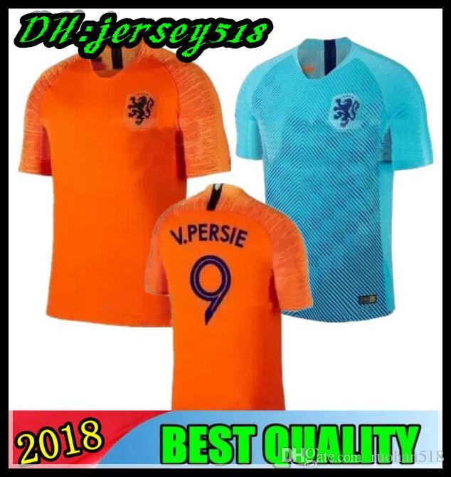 Compre 2018 19 Holanda Camisa De Futebol Home Orange 18 19 Seleção  Holandesa JERSEY Memphis SNEIJDER V.Persie Camisas De Futebol Holandês De  Ruohan518 356f273932bf4