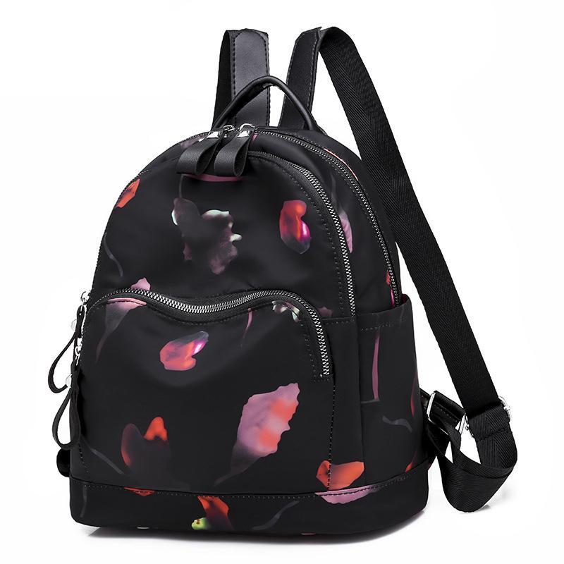 Oxford Women Backpack Flower Printing Casual Backpack Female School Bags  For Teenage Girls Back Bag Ladies Back Pack Black 2018 Laptop Backpack  Backpacks ... 29827ff1985bb