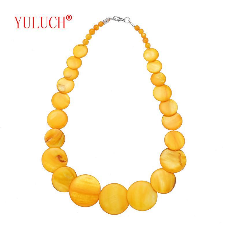 7841d2cb29d1 Compre YULUCH 2018 Estilo De Playa Bohemio Amarillo Y Colorido Collar De  Conchas De Concha Para Elegante Mujer Joyería Accesorios De Regalo A  35.91  Del ...