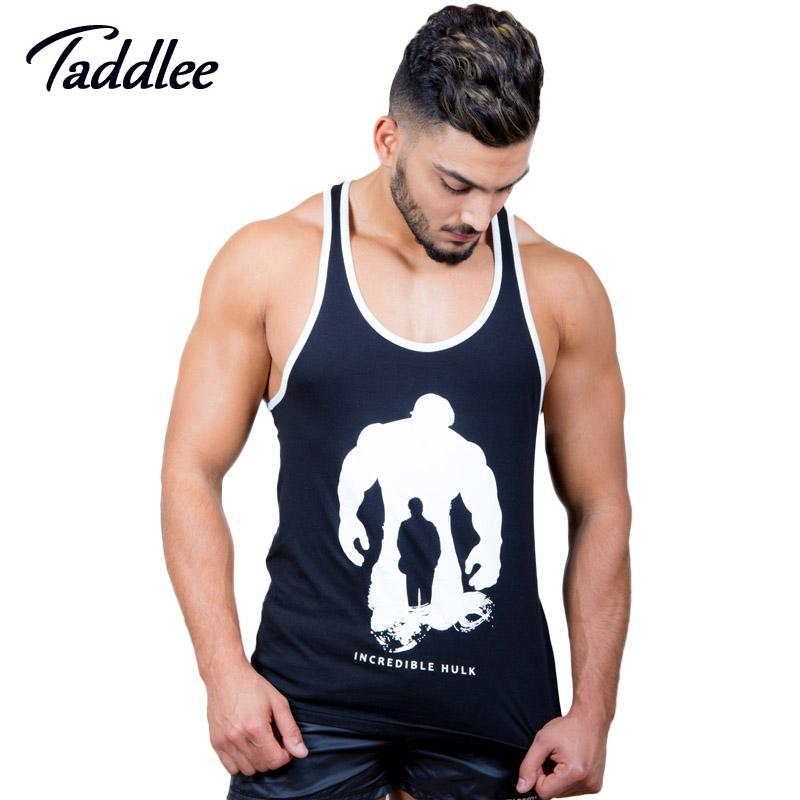 04627387 2019 Taddlee Brand Men Tank Top Tees Shirts T Shirt Sleeveless Cotton  Casual Stringer Singlets Fitness Bodybuilding Undershirt Muscle From  Netecool, ...