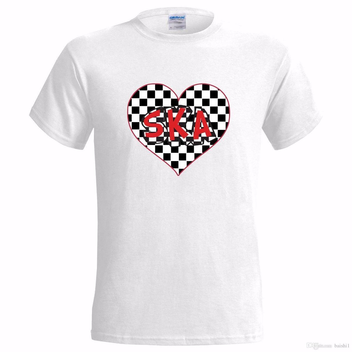 LOVE SKA DESIGN MENS T SHIRT SPECIALI BATTINO FOLLIA THE JABSCO TWO TONE 2 PRESENT T-Shirt in cotone a maniche corte