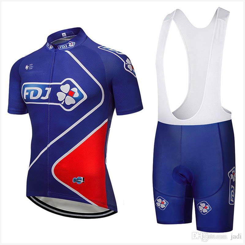 323bafa9e FDJ 2018 Team Summer Multiple Choices Breathable Perspiration Short Cycling  Short Sleeves Jersey Bib Shorts Set K91326 Cycling Jerseys Ropa Ciclismo  FDJ ...