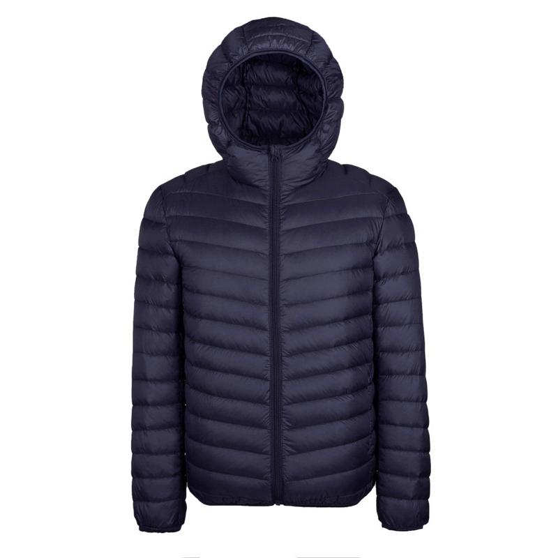 5576afb7a 2017 winter jacket men ultra thin light Hooded duck down jacket collar  solid for male Outerwear coats EU size M-3XL