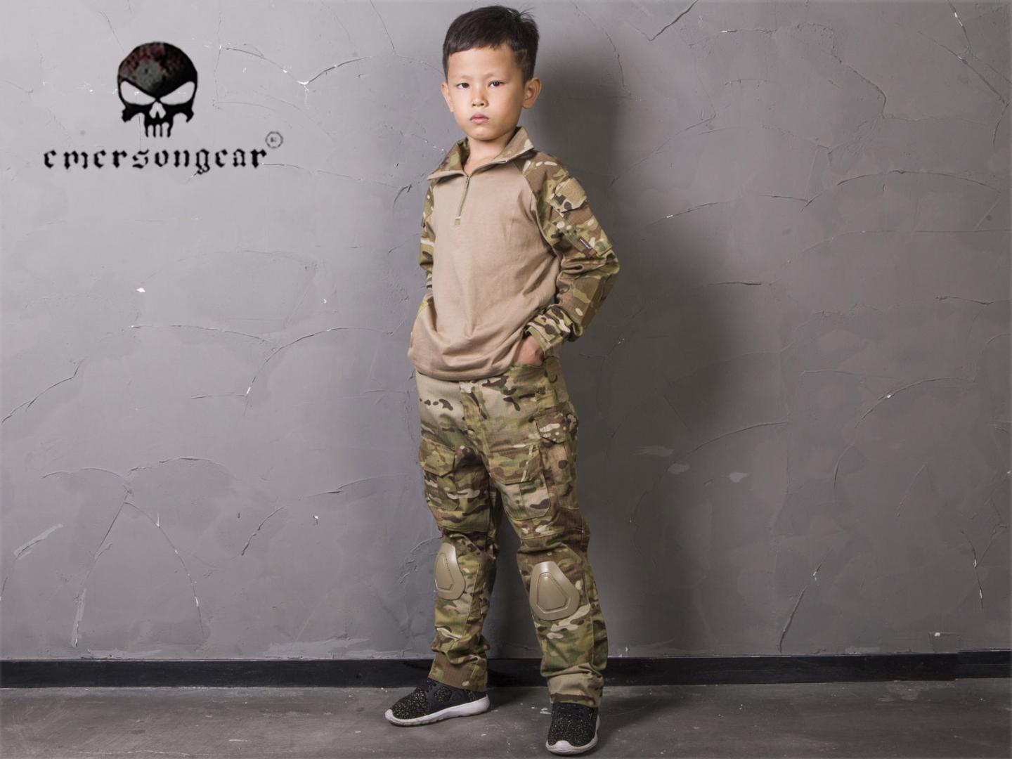Emersongear Combat Uniform For 6Y-14Y Children Pants and Shirts Suit Kids BDU Tactical Gear Hunting Multicam EM6895