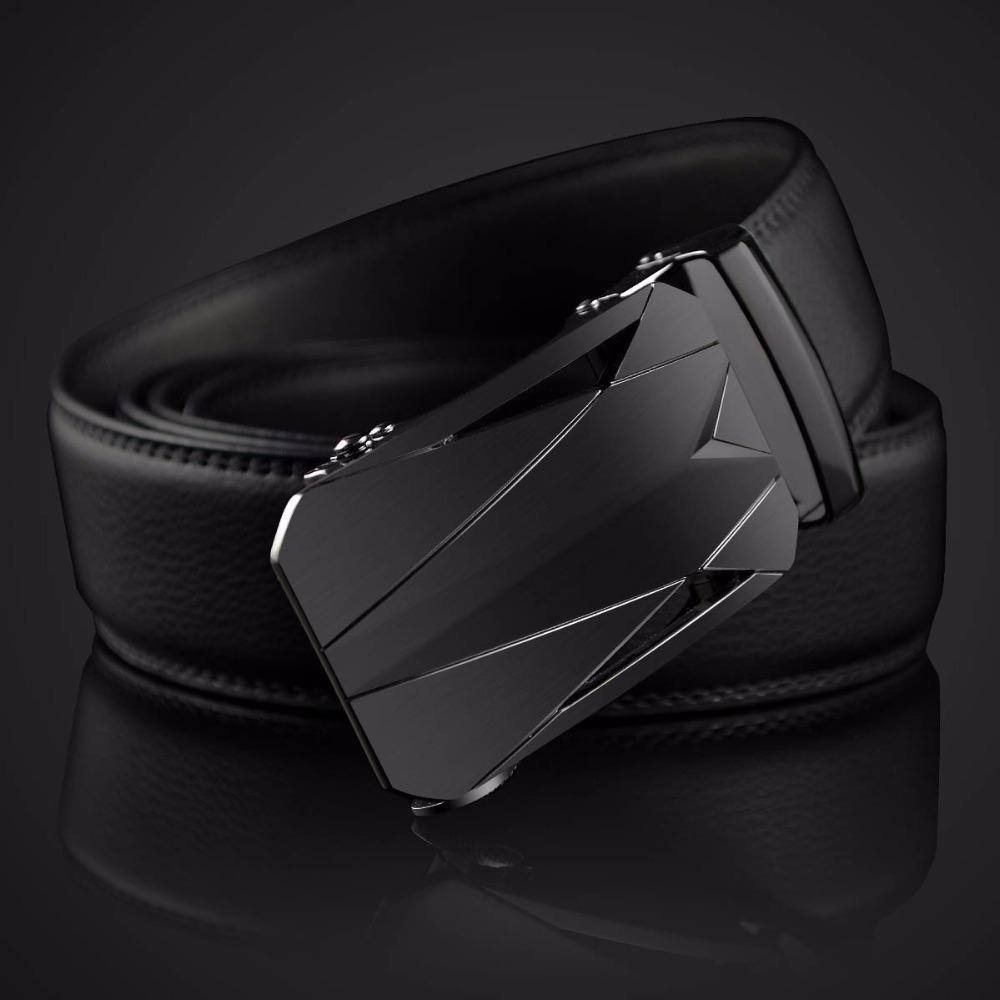 e4d8b54afb22 Acheter New Brand Designer Pure Noir Boucle De Ceinture Lisse Automatique  Boucles De Ceinture Pour Les Hommes Célèbre Marque Solide Sangle Ceinture  En Cuir ...