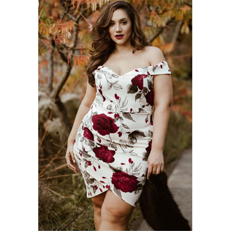 3ec899c8074 2019 4XL 5XL Stylish Sexy New Dress Big Size 2018 Women Summer Plus Size  Party Dress Vintage Skinny Floral Printing Boho Mini From Finebeautyone