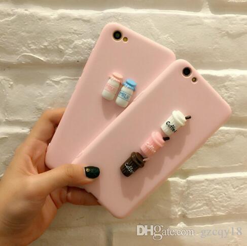 5dc9a8625b1 Todo Fundas Funda Para Iphone 5 5s 6 6s 7 8 Más X Xs 3d Coffee Milk Makara  Rosa Cute Soft Tpu Cover Para Samsung Galaxy S6 S7 Edge S8 Note 8 ...