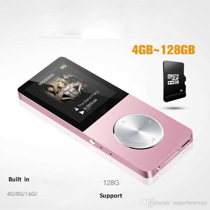 Lettore MP3 MP4 in metallo 4GB / 8GB / 16GB Slim Sport MP4 Gioco Lcd Flash Hifi Mini Lettore video musicale Radio FM Registratore TF OTH260