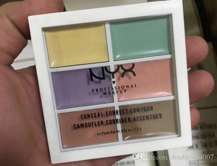 Professional Cream NYX 6 colors Contour Palette Concealer Palette Contouring Makeup Cosmetic Facial Care Cream Palette Cottect