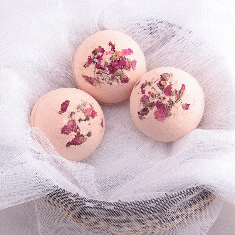 100g Deep Sea Bath Salt Body Essential Oil Bath Ball Natural Bubble Bath Bombs Ball Rose Flavors