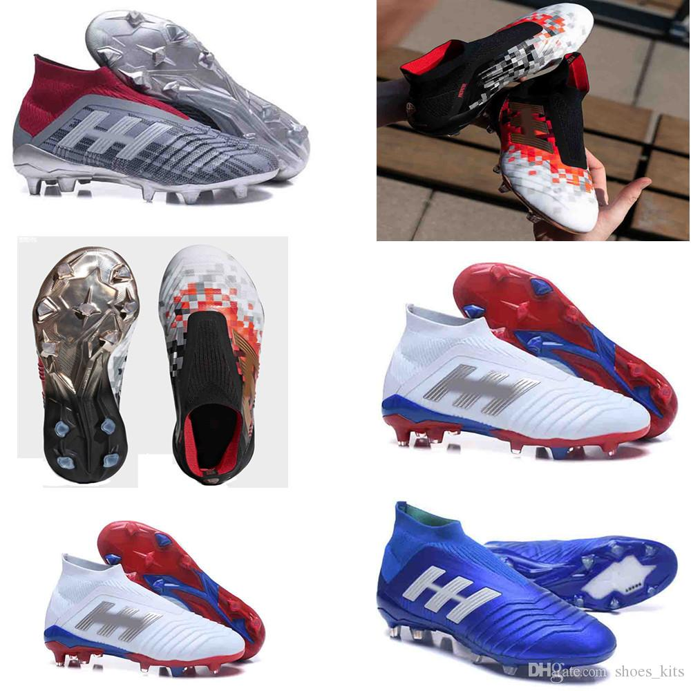 9ca17ecd00d6 2019 Soccer Shoes Predator Telstar 18+ FG X Pogba FG Accelerator DB Kids  Men Mercurial Superfly FG Football Cleats Real Madrid Trainers Designer  From ...