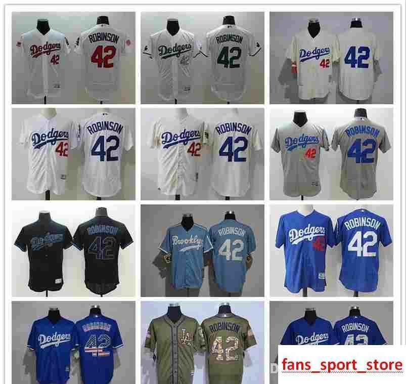 2019 2019 Men S Women Youth LA Dodgers Baseball Jersey  42 Jackie Robinson  Home Blue Grey White Flag Fashion Baseball Jerseys From Famous jersey 5c398657cf1