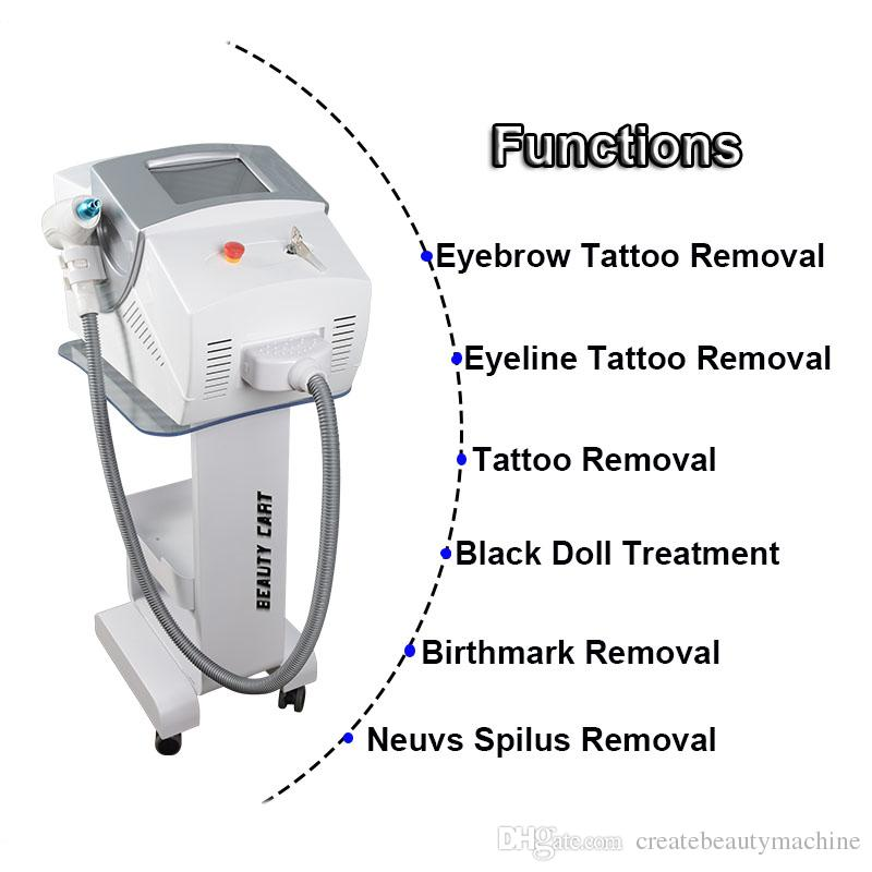 Best Price nd yag laser Tattoo Mole Removal machine Q-Switch yag laser eyebrow removal beauty equipemnt