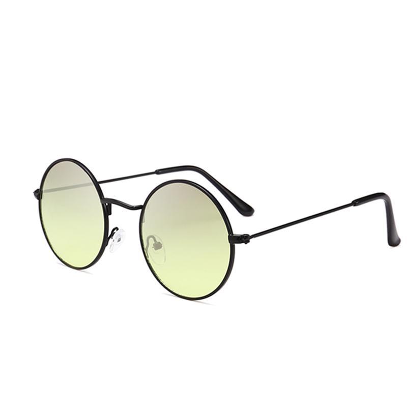 c6488d7ce64 2018 Classic Round Sunglasses Multicolor Lens Fashion Men Women ...