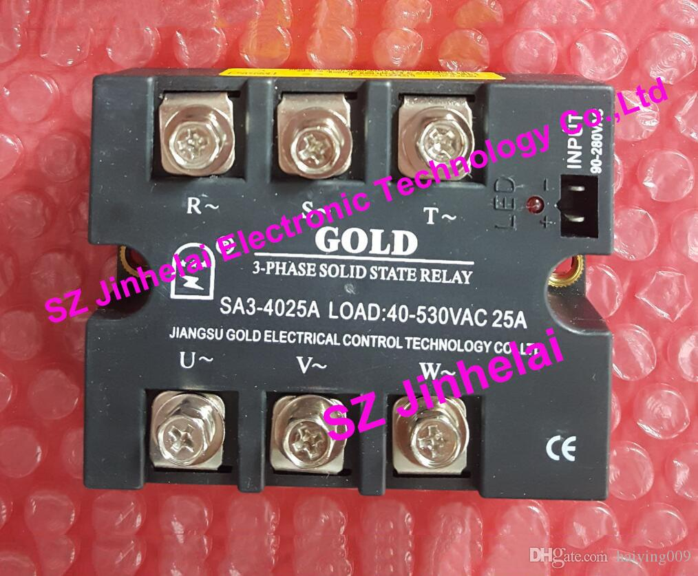 New And Original Sa34025a Sa3 4025a Gold 3 Phase Ac Solid State Relay Load 40 530vac 25a Online