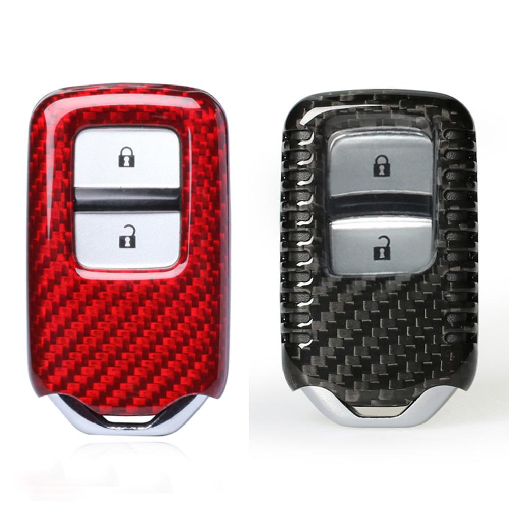 Real Carbon Fiber Car Key Case Remote Key Shell For Honda Vezel Cr V