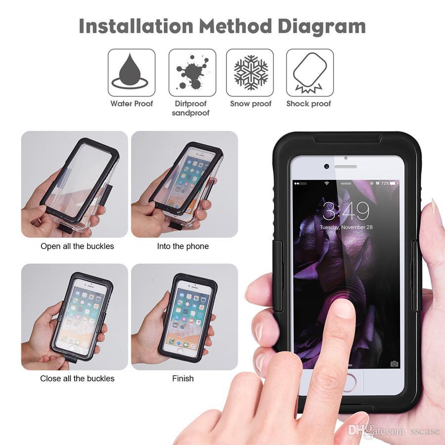 93a72baec18 Accesorios Para Celulares Estuche Impermeable Para Iphone 6 6s Protección  Contra La Nieve De La Suciedad De Choque Para Samsung Galaxy S9 S8 Plus  Nota 8 ...