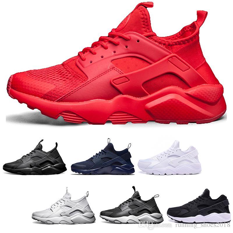 62da8df521ae New Huarache 4.0 1.0 Running Shoes Core Black White Red Grey Men ...