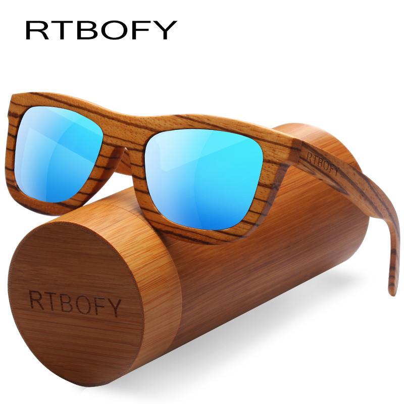 a5be0e3b5b6 RTBOFY Wood Sunglasses Women Zebra Frame Eyeglasses Polarized Lenses ...