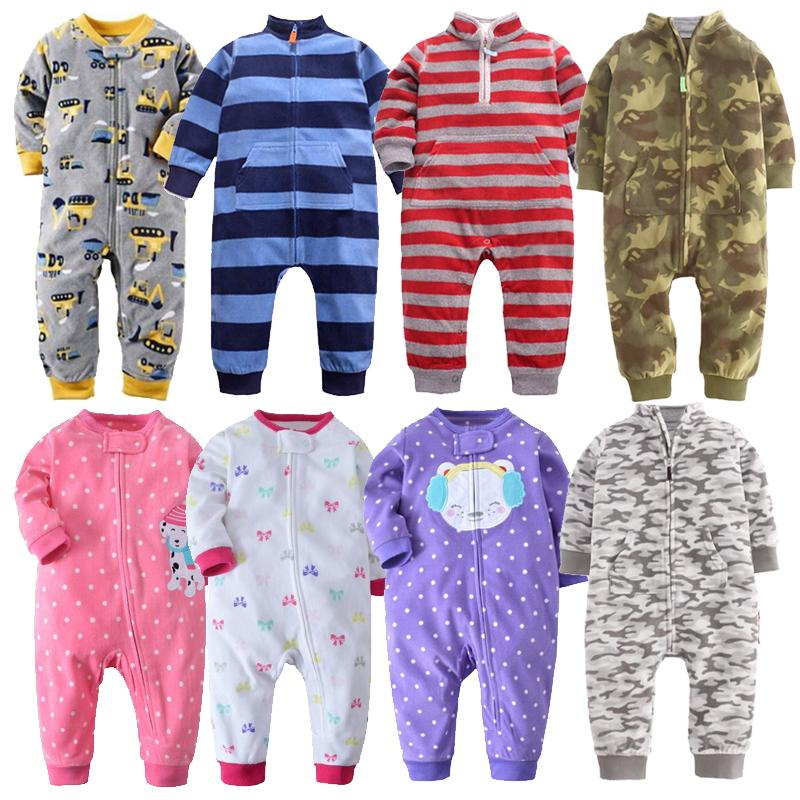 69aede4f1 2019 2018 Baby Clothes Bebes Jumpsuit Collar Fleece Newborn Pajamas ...