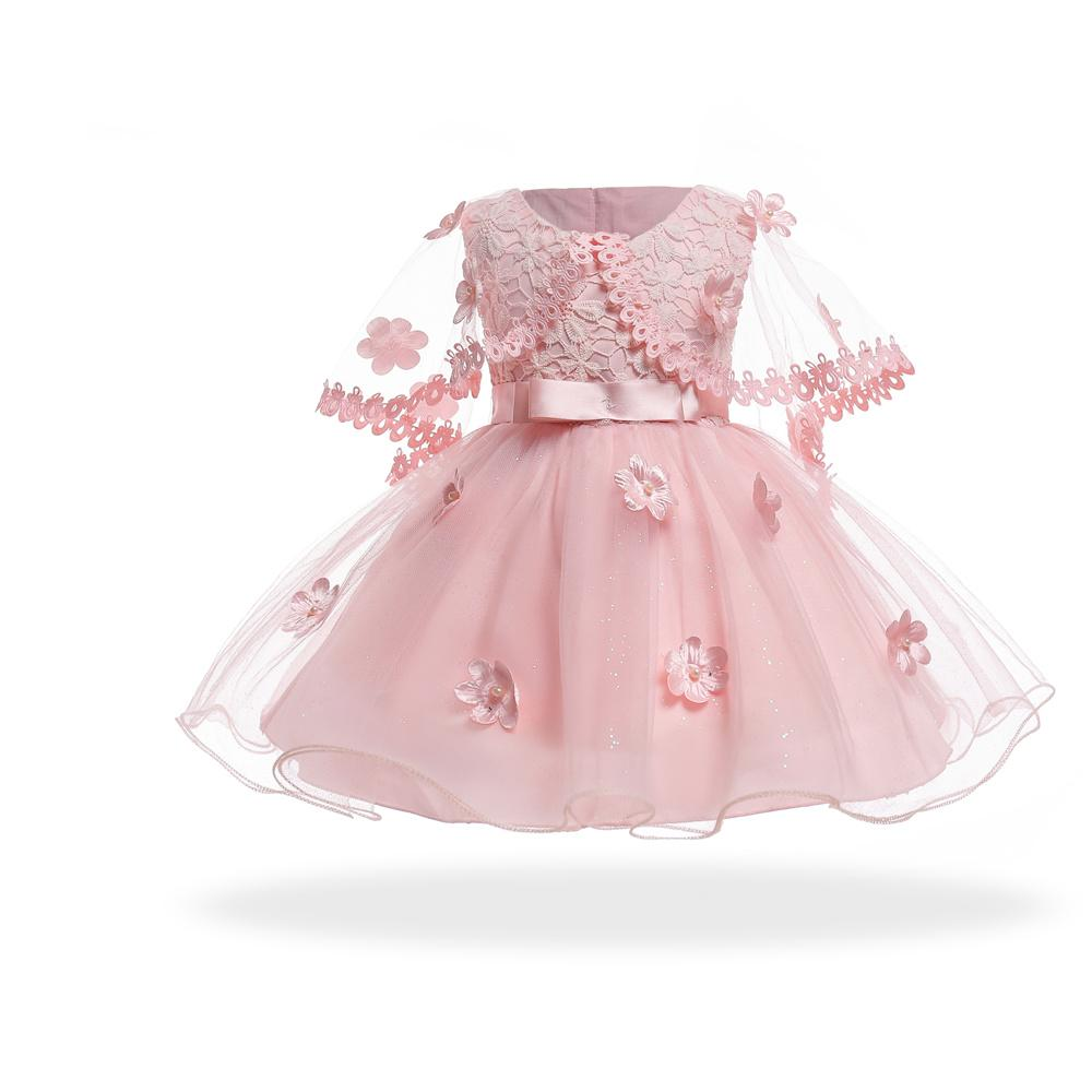 abde36a3a Compre Envío Gratis Forro De Algodón Encaje Vestidos Para Bebés 2018 Nuevo  Estilo Vestido De Bebé Para 1 Año De Niña Cumpleaños Formal Niñas Princesas  A ...