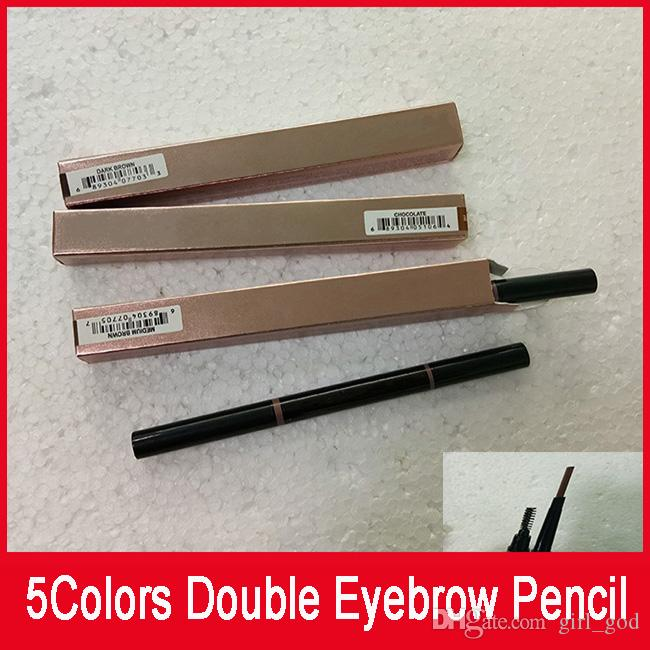 Hot Sell Double Eyebrow Pencil Brow Pencil Ebony Chocolate Soft