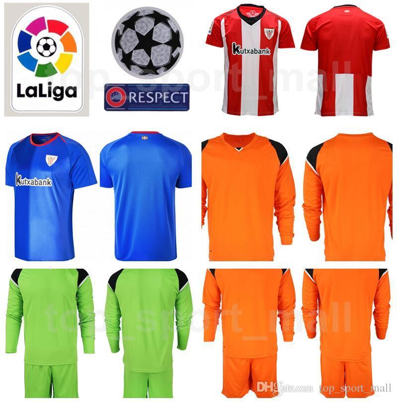 00b4b80929e Goalkeeper GK Goalie Long Sleeve Athletic Bilbao Remiro 13 Iago ...