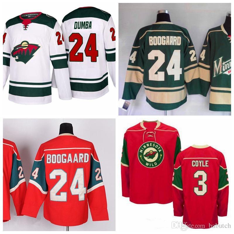 new style fa812 c391a Minnesota Wild Hockey Jerseys 3 Charlie Coyle jersey Blank 24 Matt Dumba  Jerseys Ice Hockey Jerseys Green Stitched