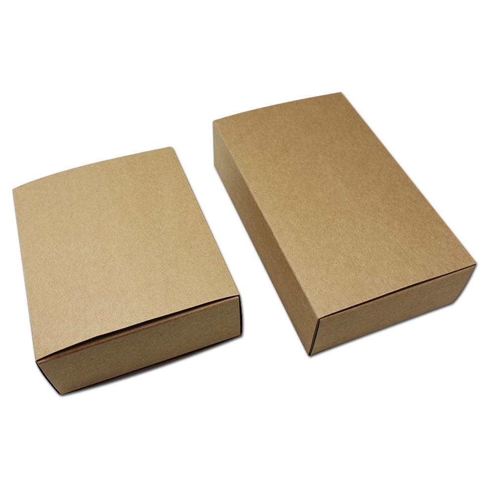 Acheter Kraft Papier Cadeaux D Emballage Tiroir Boites Marron