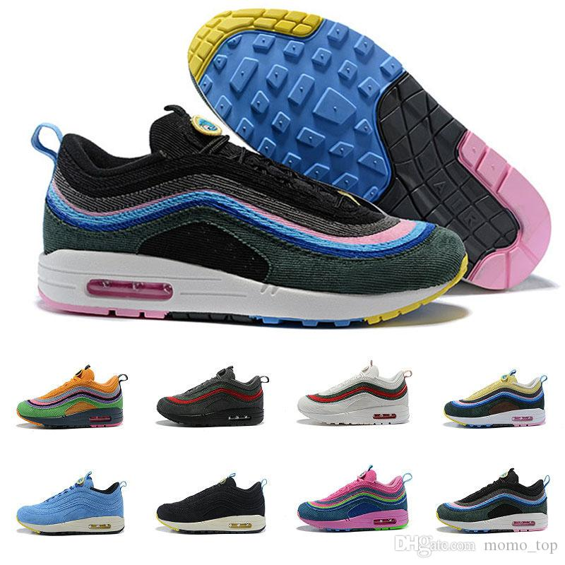 aa15159e2f 97 Sean Wotherspoon Men Women 2018 Running Shoes Mens Trainers 97s 97/1  Ultra Vivid Sulfur Multi Hybrid Shoe Sports Designer Sneakers 36 45 Best  Running ...