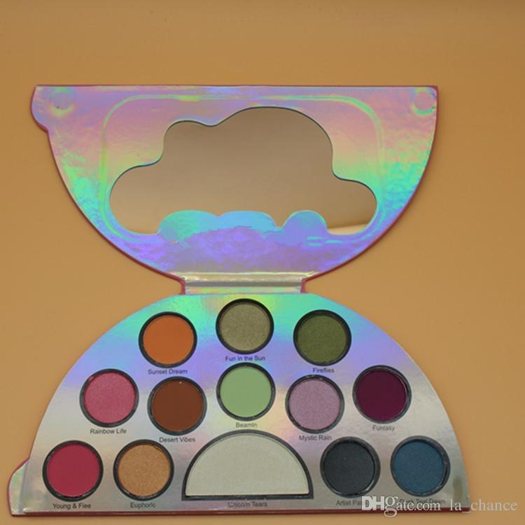 DHL-frei Neueste Make-up-Palette Faced Life A Festival 13 Farben Peace Love Eyeshadow Palette Hohe Qualität