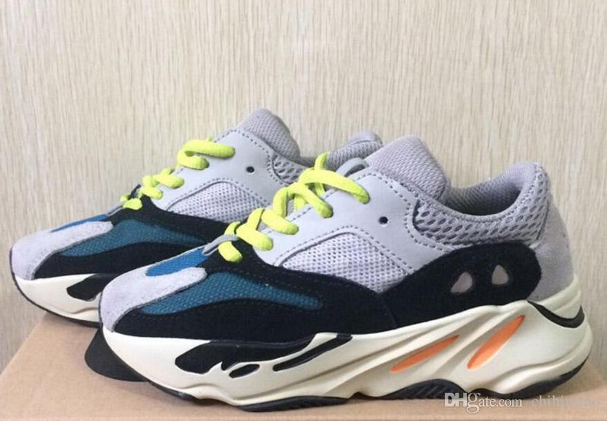 c0932013 Compre Adidas Yeezy 700 Boost V2 Yeezys Yezzy 2018 Nuevos Zapatos Para  Niños Wave Runner 700 Kanye West Zapatos Para Correr Para Niños Calzado  Deportivo ...