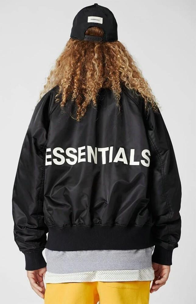 d14eb1d1c 18FW FOG Essentials Raglan Bomber Jacket MA-1 Baseball Jacket Men And Women  High Quality Fashion Black Coat HFBYJK180