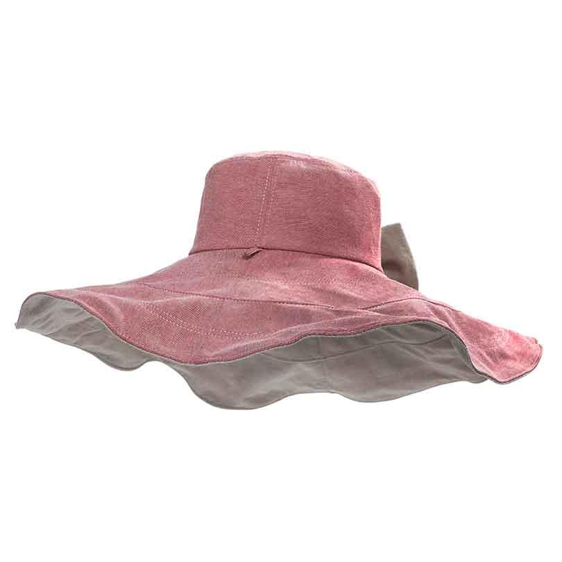 62203864d1d Summer Bucket Hat For Women Solid Twill Cotton Linen Hat Foldable Big Brim Hats  Outdoor Sunscreen Anti Uv Caps With Bow Knit Hats Bailey Hats From  Playnice
