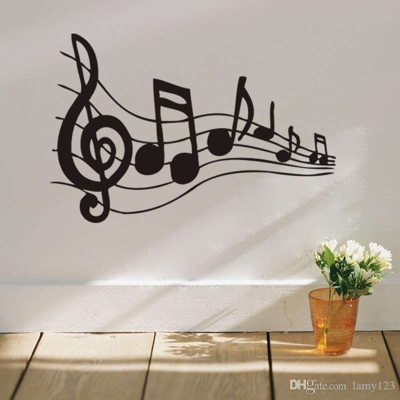 wholesale beat note music wall art stickers,vinyl wall stickers