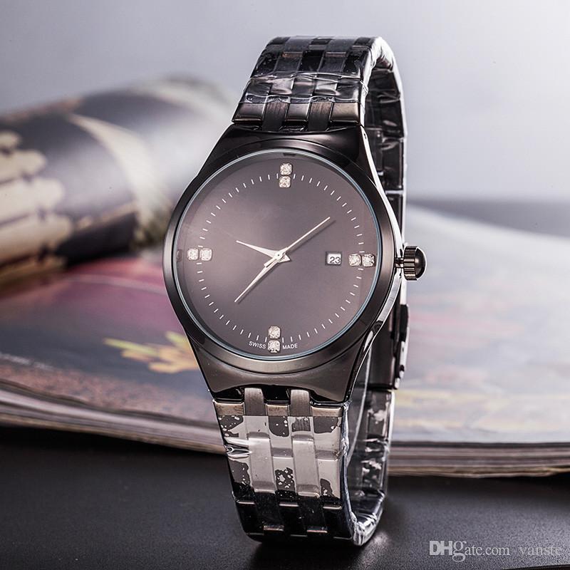 Super hot men luxury REDA watch all black stainless steel grand diamond  quartz watches casual master relogio pam wristwatch Free Shipping