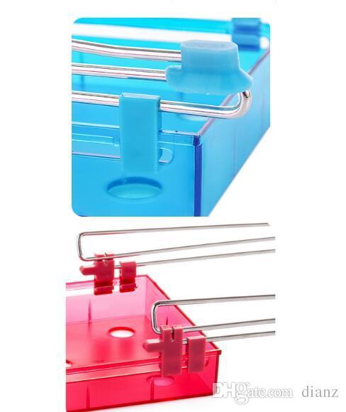 GRANDE compratore Cucina Frigo Scorrevole Cassetto Space Saver Organizer Frigorifero Storage Rack Shelf Holder Drawer
