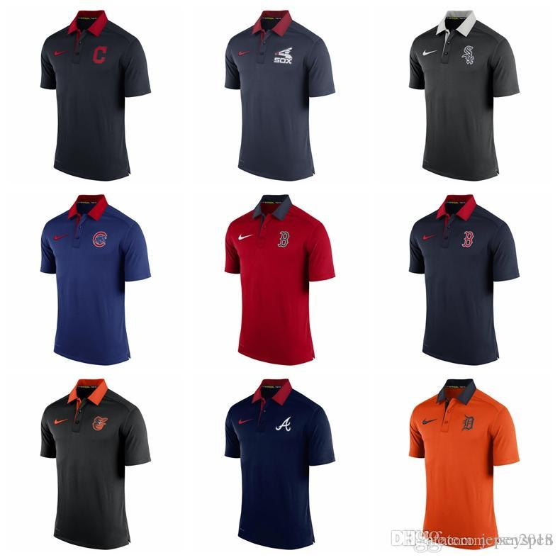 cc0854912646f1 Acquista Men's Cleveland Indians Chicago White Sox Chicago Cubs Boston Red  Sox Baltimore Orioles Atlanta Braves Authentic Collection Elite Polo A  $17.74 Dal ...