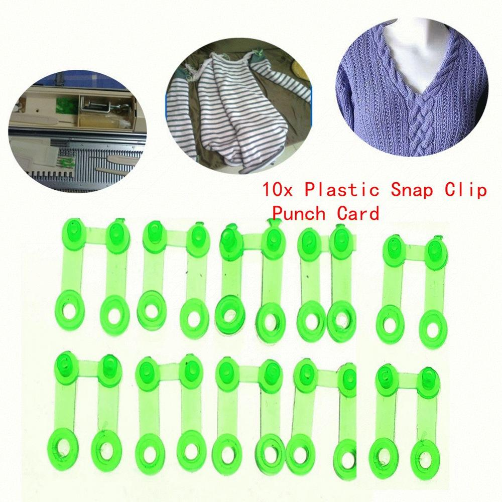 10 pcs Green Plastic Snap Clip Punch Card For SReed Brother Knitting Machine HG7714