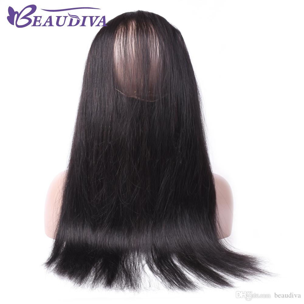 8A Brazilian Straight Hair 360 Lace Frontal Band Body Wave Natural Hairline Virgin Human Hair Full Lace Frontal Closure with Baby Hair