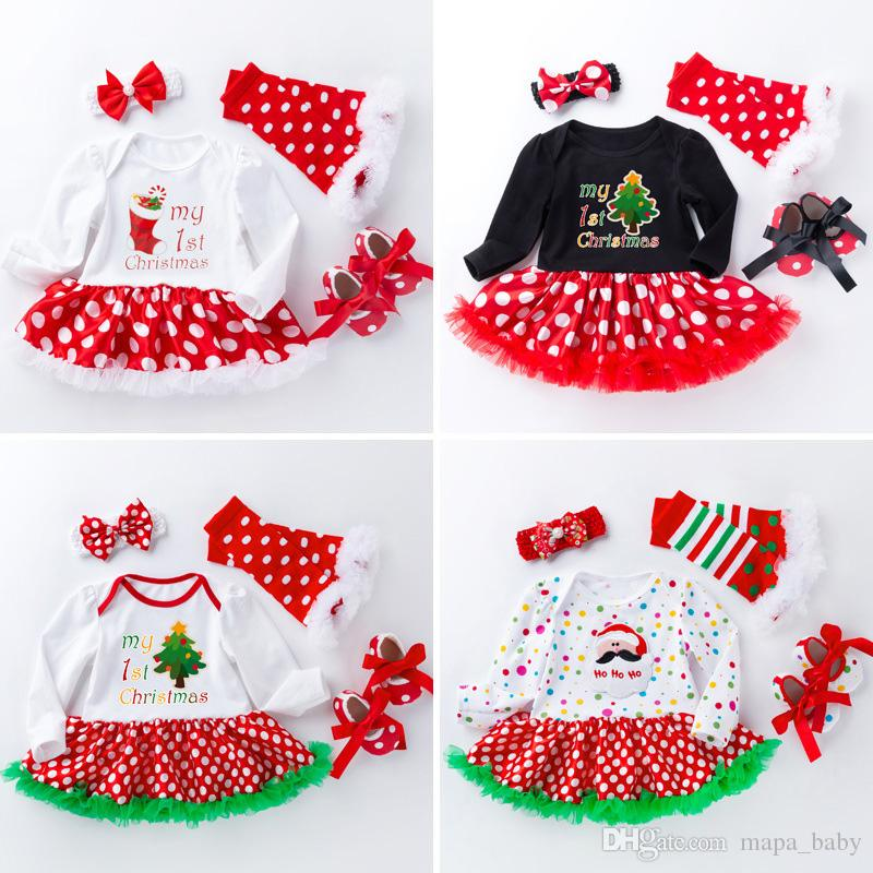 b07b2f9a0 2019 Christmas Romper Dress Santa Rompers Infant Outfits Baby Girl Clothes  Gril Dress Suits Newborn Santa Cluas Tutu Dresses 11 Designs From  Mapa_baby, ...
