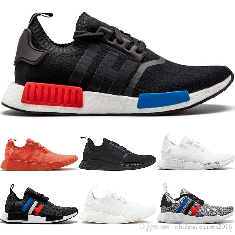 Großhandel 2018 Herren R1 Laufschuhe Og Japan Triple Schwarz Weiß Oreo Rot  Farbe Schwarz Grau Damen Primeknit Outdoor Sports Sneakers 36 44 Von ... 3d12ff95c3