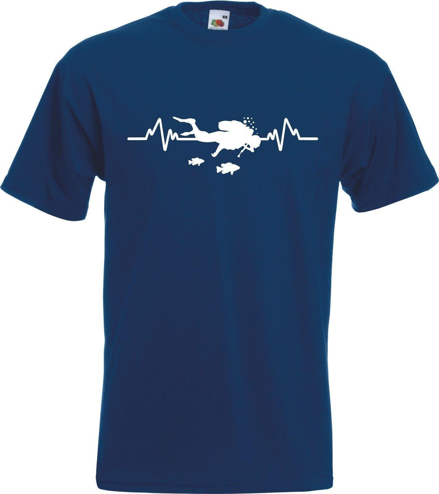 2de88e8f68 Scuba Diving Heartbeat Diver T Shirt Funny Unisex Casual Gift Tee Shirt  Designers Funny Print T Shirts From Lukehappy13, $12.96  DHgate.Com