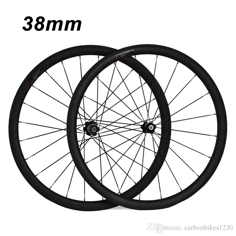 700C 24mm 38mm 50mm 60mm 88mm Clincher Tubular 23mm Width 3K Carbon Wheels Road Bike Bicycle Wheel Racing Touring Wheelset